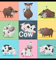 Set of Cow family vector image vector image