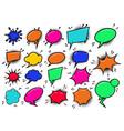 set pop art style comic cartoon speech bubbles vector image