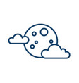 simple weather icon with full moon with clouds vector image vector image