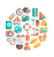 summer vocation icon travel holiday travels vector image vector image