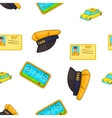 Taxi pattern cartoon style vector image vector image