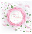 teachers day card with roses vector image vector image