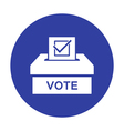 Voting paper with approved checkmark icon vector image vector image