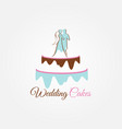 wedding cakes logo sign symbol icon vector image