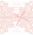 Wedding Invitation card with lace ornament vector image vector image