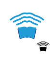 Wi fi book Wireless transmission of knowledge vector image vector image