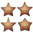wood stars icons for ui game vector image vector image
