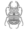 zentangle odontolabis cuvera bug vector image