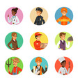 avatars set with different professions vector image