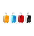 collection of four color luggage travel case vector image