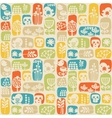 Seamless pattern with sculls birds and flowers vector image