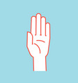 gesture stop sign stylized hand with all fingers vector image