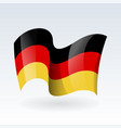 3d waving flag germany isolated on white vector image
