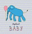 Abstract background children art elephant vector image vector image