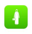 arabic woman icon digital green vector image vector image