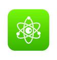 atomic model icon digital green vector image