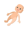 Baby doll cartoon icon vector image vector image