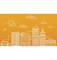 Big city business center skyscrapers megapolis vector image vector image