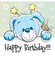 birthday card with puppy vector image vector image