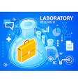 bright laboratory research of work suitcase vector image