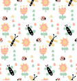 butterflies and ladybugs vector image