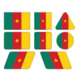 buttons with flag of Cameroon vector image vector image