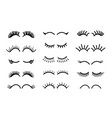 cartoon eyelashes cute unicorn face lashes vector image