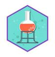 chemical laboratory tube tripod vector image