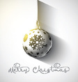 christmas bauble background 0710 vector image vector image