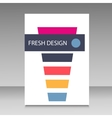 cocktail design brochure vector image vector image