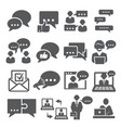 communication icons set on white background vector image vector image