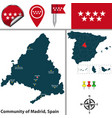 community of madrid vector image vector image