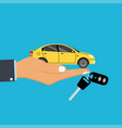 concept for automobile agent vector image vector image