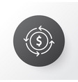 currency exchange icon symbol premium quality vector image