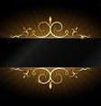 design with gold ornament vector image