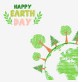 earth day and the environment with shape paintings vector image vector image