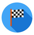 finish flag icon race sports icon racing flag vector image