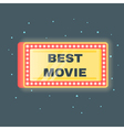 flat style of Best movie shining retro light vector image vector image