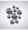 gears machine settings icon vector image