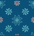 geometric flowers scattered on seamless repeat vector image vector image