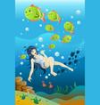 girl swimming in ocean vector image vector image