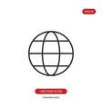 globe icon world sign vector image