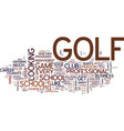 golf schools can boost your game text background vector image vector image