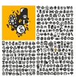 Great set of robot faces vector image