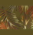greenery palm pattern template foliage leaves vector image