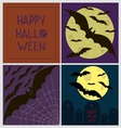 Halloween poster card set vector image
