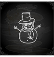 hand drawn skeleton disguised as a snowman vector image vector image
