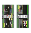 Highway Planning roads streets and traffic vector image vector image