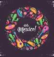hola mexico poster vector image vector image