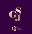 logo s g and j monogram compound vector image vector image